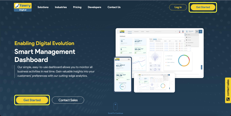 Fawry Digital Homepage