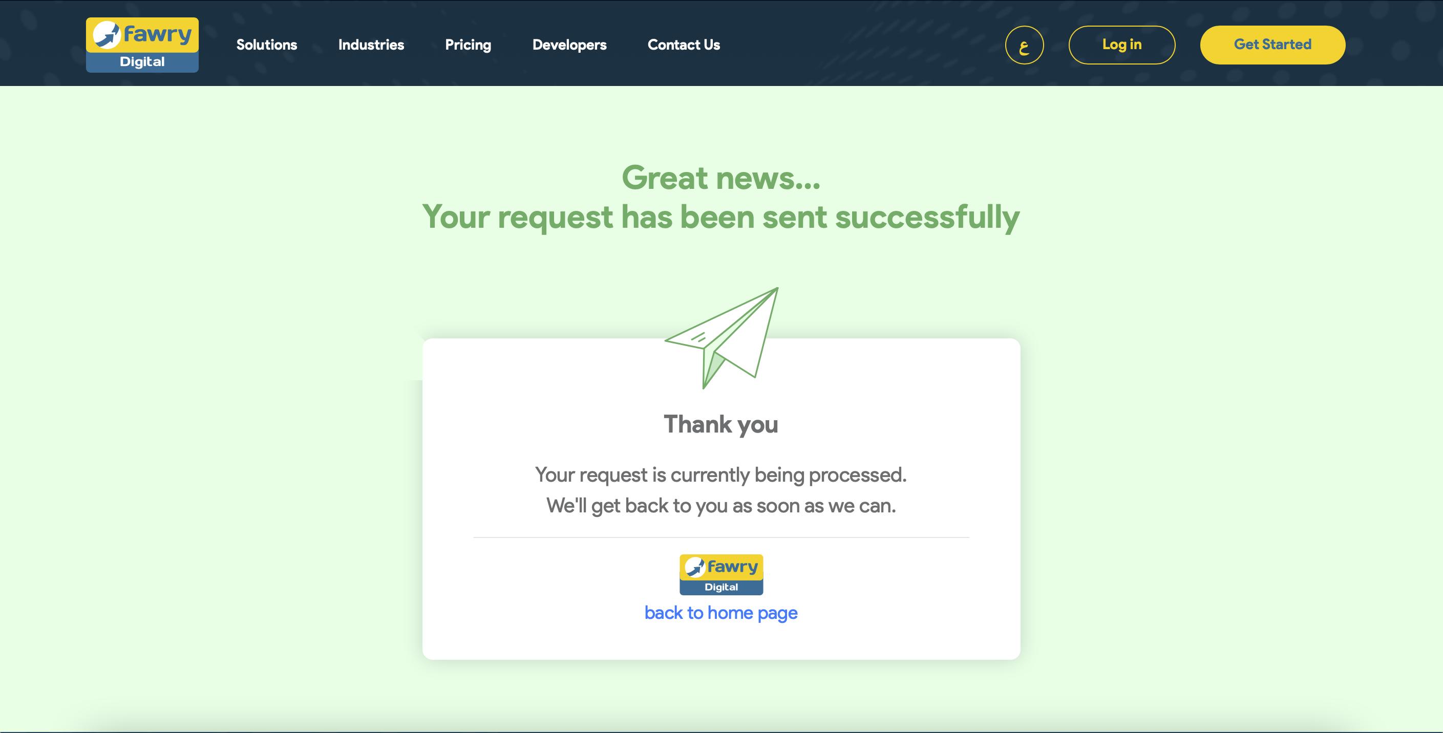 Fawry Digital Account Confirmation