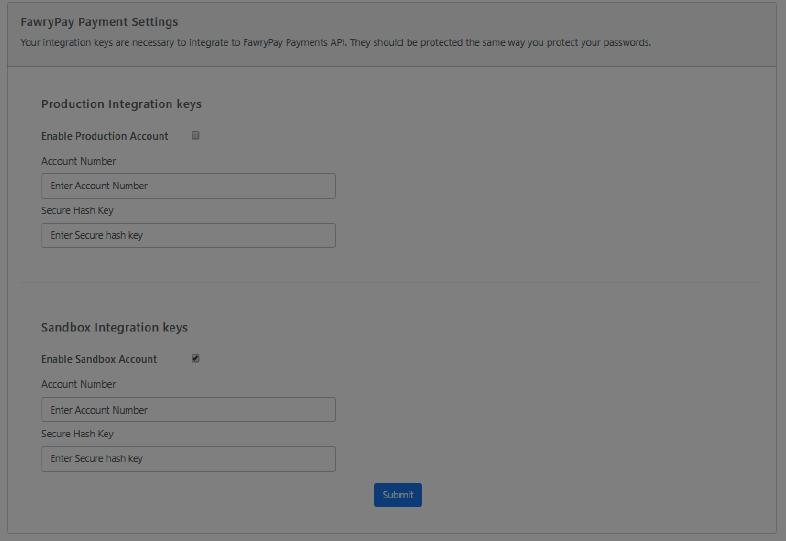Shopify configuration
