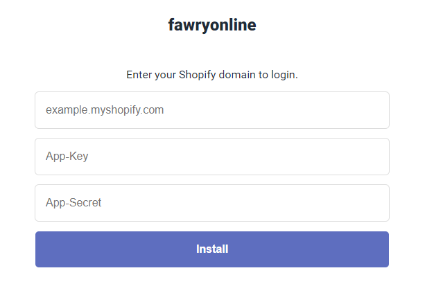 Shopify go to fawrypay link